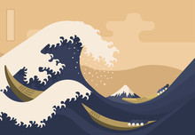Great Wave With Mount Fuji 19t...