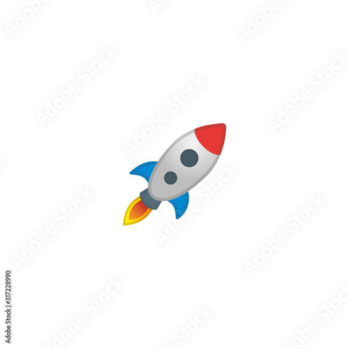 Startup Vector Icon. Isolated Rocket Startup Cartoon Style Emoji, Emoticon Illustration