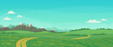 Summer Landscape With Rural Ro...
