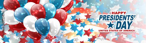 Cuadros en Lienzo Happy Presidents day banner or website header