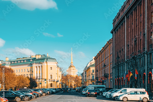 Hotel Astoria near St. Isaac's Square. Saint Petersburg. Russia. Wallpaper Mural