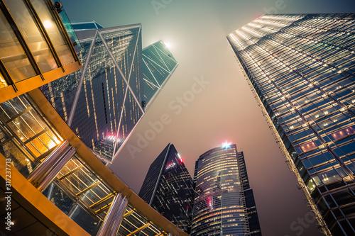 Photo building hongkong city