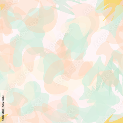 Photo Camouflage Seamless Pattern. Military Camouflage