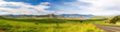 canvas print picture - Panorama of the Amphitheatre of the Drakensberg mountains on a sunny summer day, Royal Natal National Park, South Africa