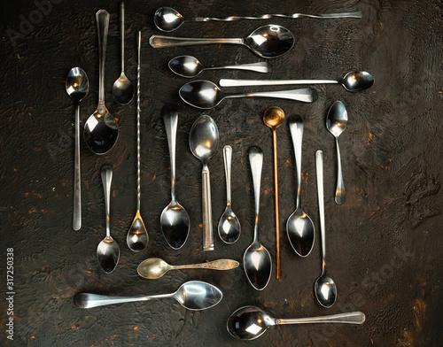 Fényképezés selective focus, tablespoons and teaspoons