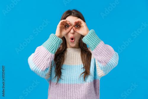 Fototapeta Girl found amazing, stunning offer