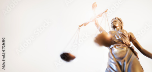 Legal and law concept statue of Lady Justice with scales of justice Wallpaper Mural