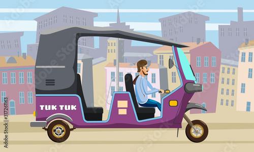 Fényképezés Tuk Tuk Asian auto rickshaw three wheeler tricycle
