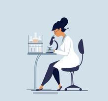 Medical Tests Illustration. Sc...