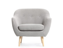 Modern Armchair On White Backg...
