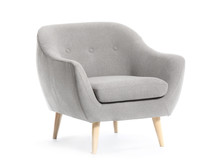 Modern Armchair On White Background