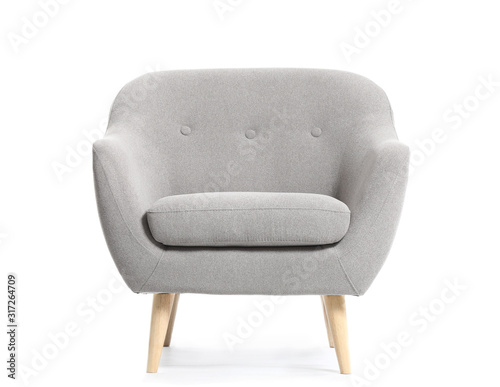 Modern armchair on white background Wallpaper Mural