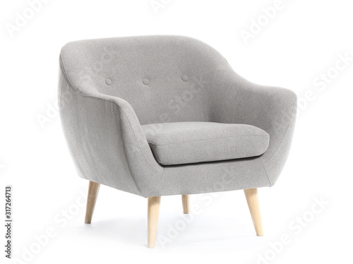 Valokuva Modern armchair on white background