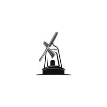 Windmill Logo Template Vector Icon Illustration Design