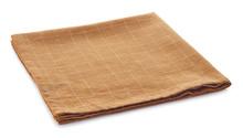 Light Brown Checkered Cotton Napkin