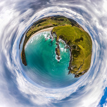 Aerial Tiny Planet Of The Gree...
