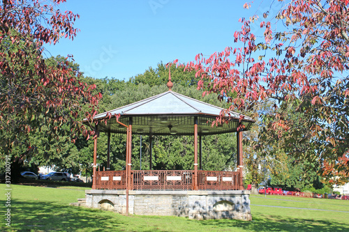 Bandstand in a park Canvas Print