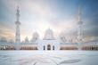 Leinwanddruck Bild - Sheikh Zayed große Moschee in Abu Dhabi – Panoramablick bei Tag