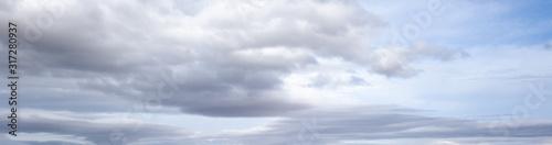 Obraz Overcast sky background with clouds - fototapety do salonu