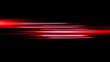 Future tech. Glowing blurred light red stripes in motion over on background. Magic moving fast lines. Design element.