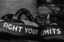 Close Up Of FIGHT YOUR LIMITS ...