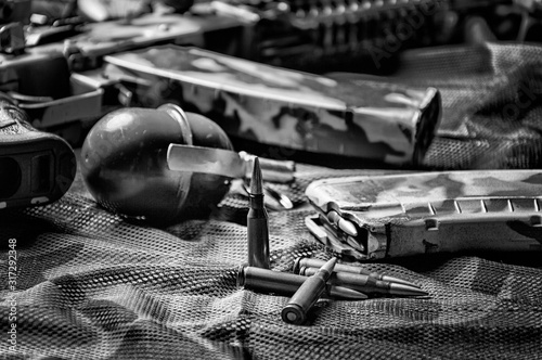 The concept of military ammunition Tablou Canvas