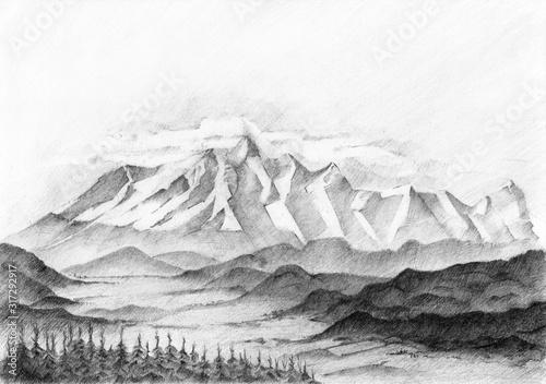 Fototapeta High Tatras Mountains, Slovakia. obraz