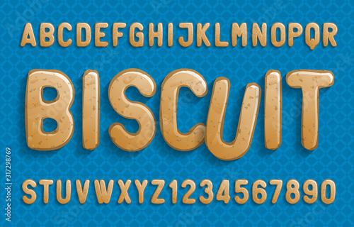 Biscuit alphabet font Canvas Print