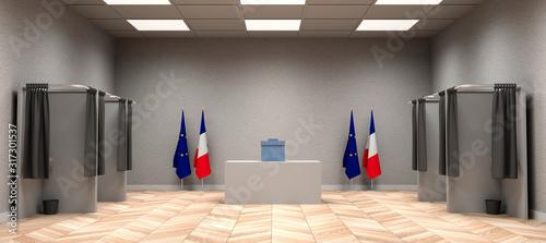 Fotografía Salle de vote pour résultat des élections - Illustration 3D