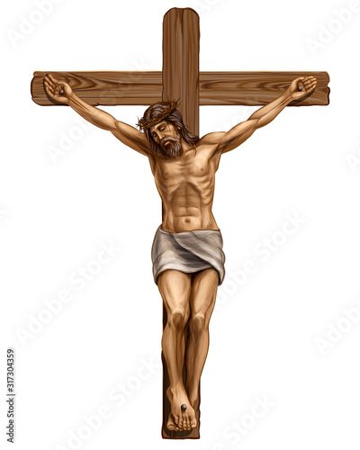 Photo Jesus Christ crucified on the cross