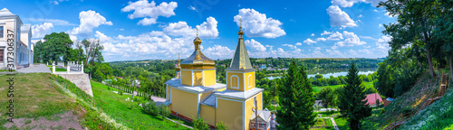 Fototapeta The Vyshnivets Palace and Church of the Ascension of the Lord - Part of the State Historical and Architectural National Reserve