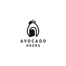 Avocado Fruit Logo Template. D...