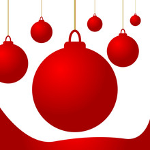 Christmas Red Balls Isolated I...