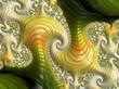 canvas print picture - Fraktal Bild mit wundeschönen mustern und Farben