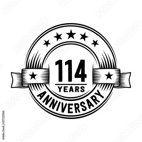Photo  114 years anniversary celebration logotype