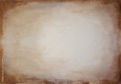 Yellow brown acryl texture, album page Wallpaper Mural