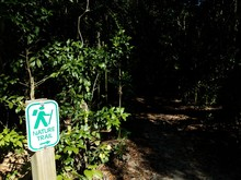 Nature Trail Sign With Hiker A...