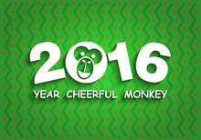 Funny Year Of The Monkey, Happ...