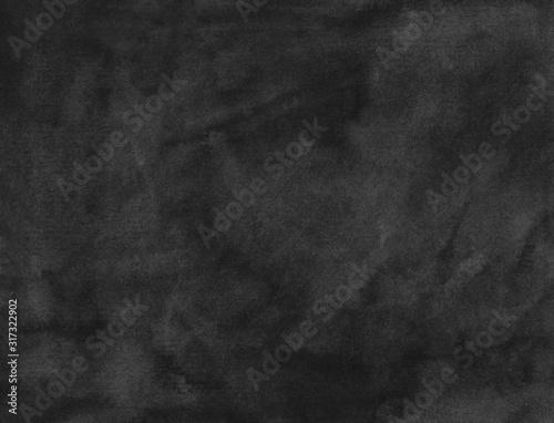 Fototapety, obrazy: Watercolor black background texture. Old dark backdrop.