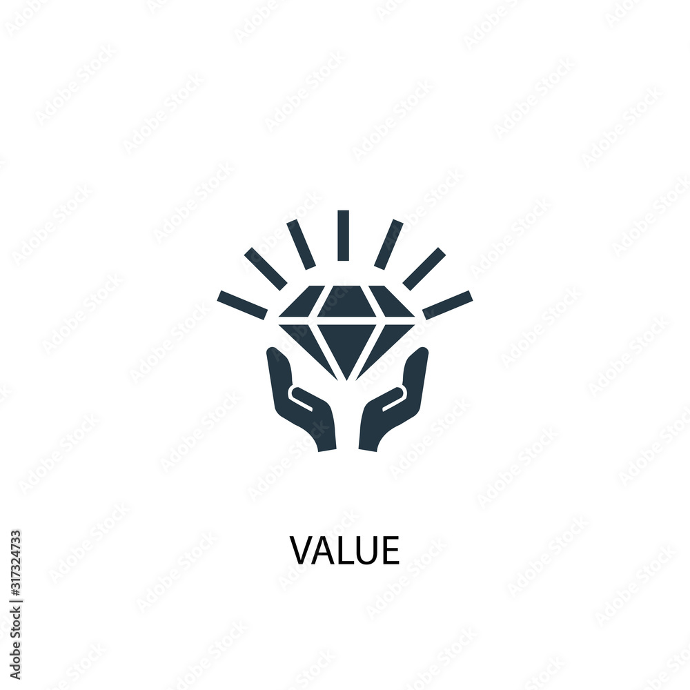 Fototapeta value icon. Simple element illustration. value concept symbol design. Can be used for web and mobile.