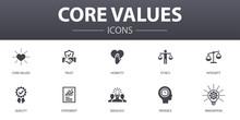 Core Values Simple Concept Ico...