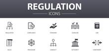 Regulation Simple Concept Icon...