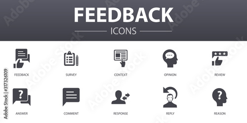 Fotografie, Obraz feedback simple concept icons set