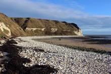 Coastal Walk Between Bridlington And Flamborough Head At South Landing, East Riding Of Yorkshire.
