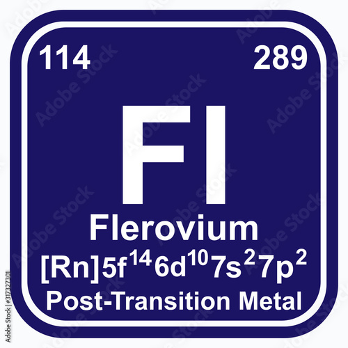 Flerovium Periodic Table of the Elements Vector illustration eps 10 Wallpaper Mural