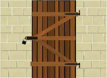 Wooden Cellar Door Locked With...
