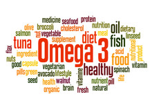 Omega 3 Word Cloud Concept