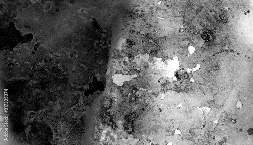 Photo Abstract gray and black shades watercolor background