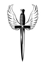 Winged Dagger, Black And White...