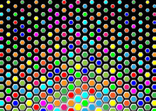 Colorful Hexagons As Mosaic Or...
